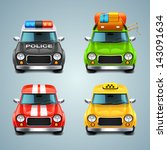 vector car icon set | Shutterstock .eps vector #143091634