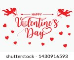 valentine s day banner with... | Shutterstock .eps vector #1430916593
