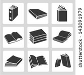 book icons set | Shutterstock .eps vector #143091979