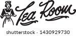 tea room 3   retro ad art... | Shutterstock .eps vector #1430929730