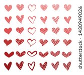 red heart icon set. hand...   Shutterstock .eps vector #1430949026