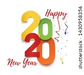 happy new year 2020. abstract... | Shutterstock . vector #1430958356