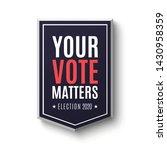 presidental election 2020... | Shutterstock . vector #1430958359
