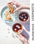 still life   cups of tea and... | Shutterstock . vector #1430960570