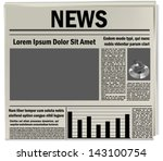 newspaper icon  business news | Shutterstock .eps vector #143100754