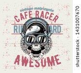 grunge style vintage skull cafe ... | Shutterstock .eps vector #1431007670