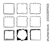 handdrawn square doodle frame... | Shutterstock .eps vector #1431009503