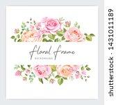 floral frame wedding invitation ...   Shutterstock .eps vector #1431011189