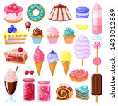 set of colorful sweet food.... | Shutterstock .eps vector #1431012869