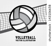 Volleyball Sport Over Dotted...