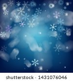 realistic vector snowfall on... | Shutterstock .eps vector #1431076046