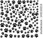 dog footprint over white... | Shutterstock .eps vector #143110213