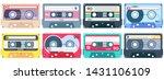 vintage tape cassette. retro... | Shutterstock .eps vector #1431106109