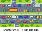 traffic jam. highway top view ... | Shutterstock .eps vector #1431106136