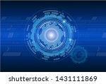 blue circle abstract technology ...   Shutterstock . vector #1431111869