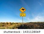 an iconic kangaroo road sign... | Shutterstock . vector #1431128069