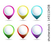 set of color map pointers. | Shutterstock .eps vector #143113438