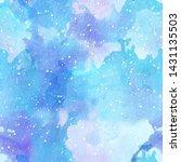 Watercolor Splash With Stars...