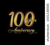 100 years anniversary... | Shutterstock .eps vector #1431138500