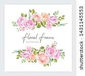 floral frame wedding invitation ...   Shutterstock .eps vector #1431145553