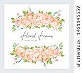 floral frame wedding invitation ...   Shutterstock .eps vector #1431145559