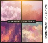 geometric patterns set.... | Shutterstock .eps vector #143114998