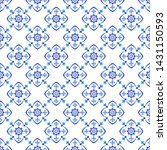 azulejos portuguese traditional ... | Shutterstock .eps vector #1431150593