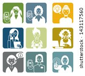 set with nine avatar of... | Shutterstock .eps vector #143117560