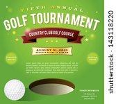 a nice design for a golf... | Shutterstock .eps vector #143118220