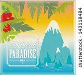 vector vintage travel poster | Shutterstock .eps vector #143118484