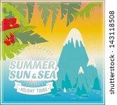 vector vintage travel poster   Shutterstock .eps vector #143118508
