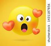 emoticons. emoji. loving emoji  ... | Shutterstock .eps vector #1431187856