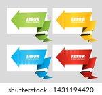 set of angular origami arrow...   Shutterstock .eps vector #1431194420