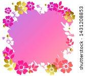 decorative square frame of... | Shutterstock .eps vector #1431208853
