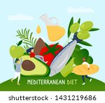tiny people with mediterranean...   Shutterstock .eps vector #1431219686