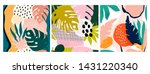 set of three hand drawn... | Shutterstock .eps vector #1431220340