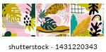 set of three hand drawn... | Shutterstock .eps vector #1431220343