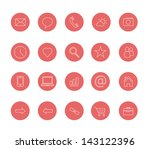 clean icons set red | Shutterstock .eps vector #143122396