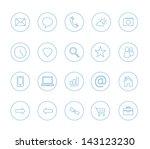 clean icons transparent blue