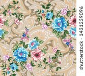 seamless flower with paisley...   Shutterstock .eps vector #1431239096