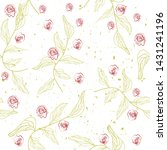 roses red seamless pattern...