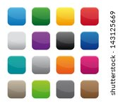 blank square buttons. vector...   Shutterstock . vector #143125669