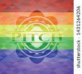 pitch emblem on mosaic... | Shutterstock .eps vector #1431264206
