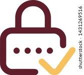 password icon in trendy flat...