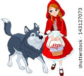 little red riding hood meeting... | Shutterstock .eps vector #143127073