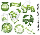 green set of sale icons and... | Shutterstock .eps vector #143129068