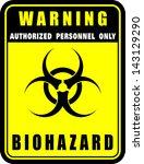 warning  biohazard  icon vector | Shutterstock .eps vector #143129290
