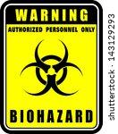 warning  biohazard  icon vector | Shutterstock .eps vector #143129293