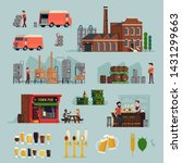 large set of flat vector... | Shutterstock .eps vector #1431299663
