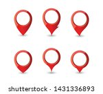 set of various points on the... | Shutterstock .eps vector #1431336893